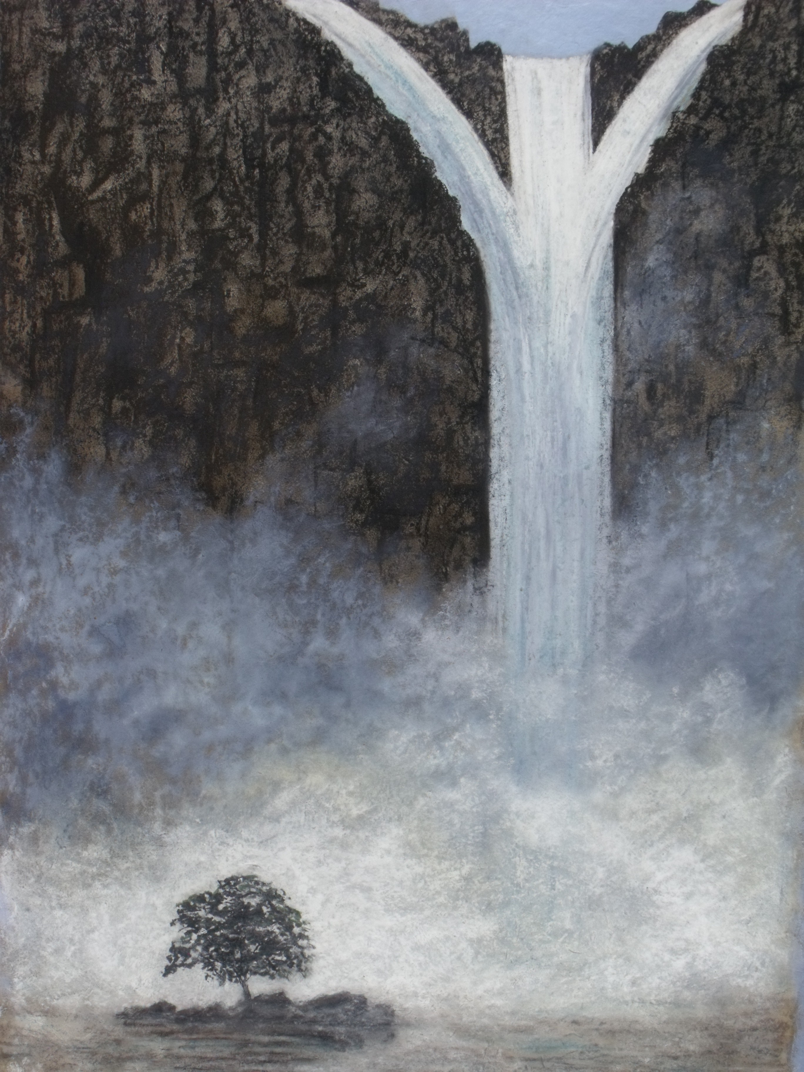 Wildlife paintings, Waterfall | Tracts4free
