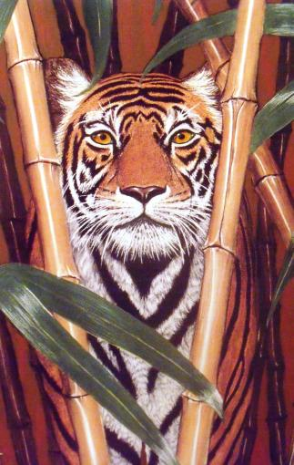 Tiger painting.