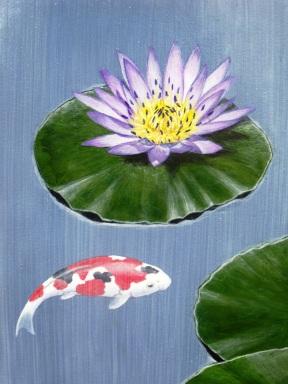 Koi painting.