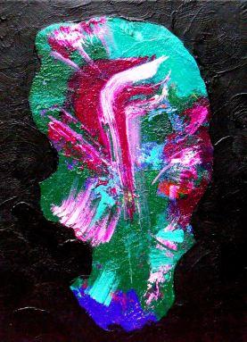 Red-violet brush stroke