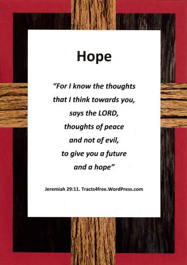 """Hope"" Bible verse poster."