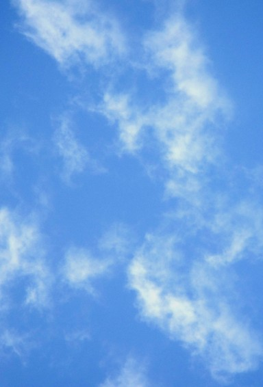 Fluffy cloud photo background.