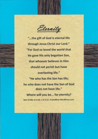 "Christian poster ""Eternity"". Tracts4Free.WordPress.com."
