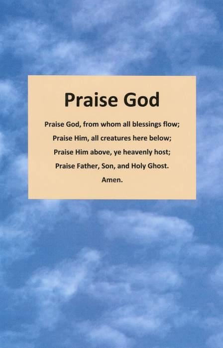 Praise God.