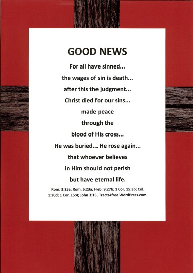 """Good News"" gospel poster."