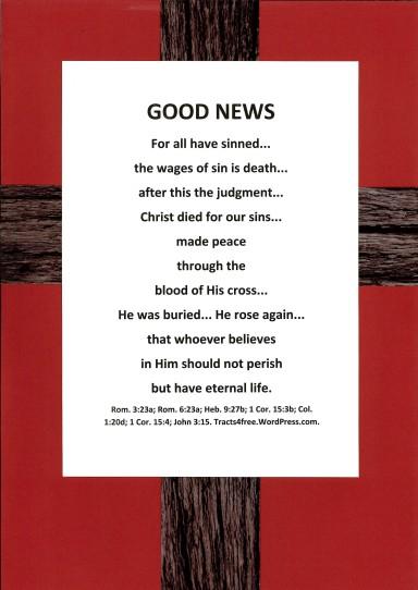 """Good News"" gospel poster."
