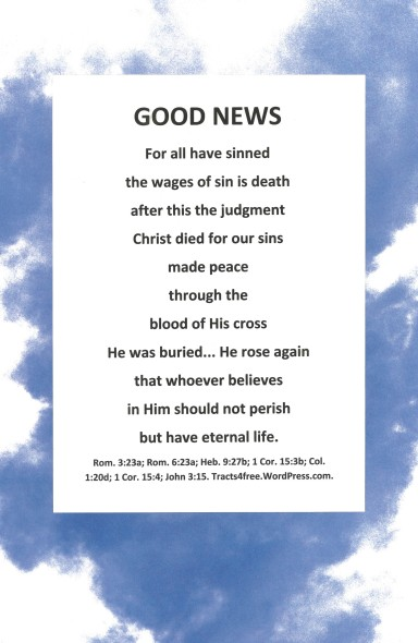 Good news gospel poster.