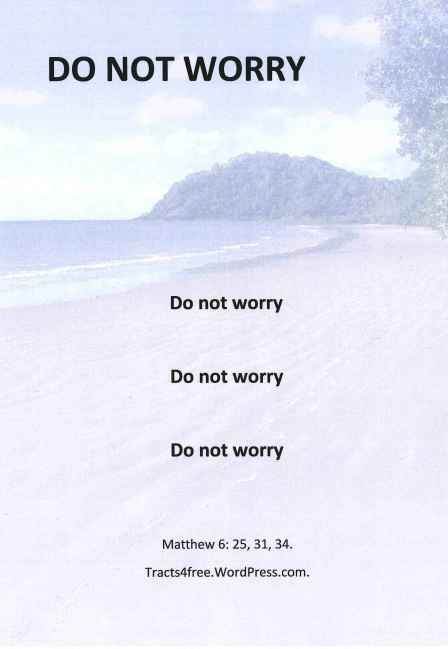 Do not worry Christian Poster.