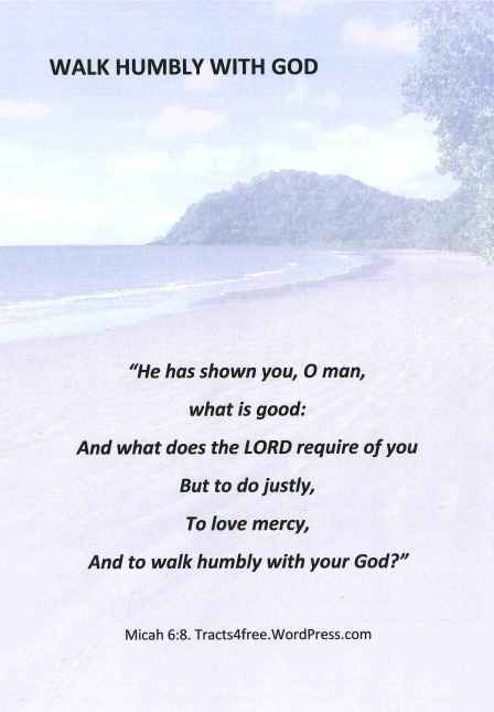 Walk humbly with God Christian Poster.