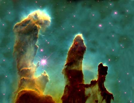 Pillars of Creation nebulae. Photo: scienceblogs.com.