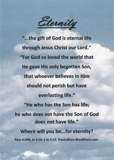 Eternity Gospel Poster.