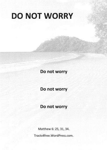 Do not worry poster.