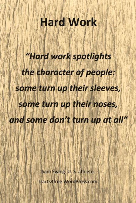 Hard Work Poster.