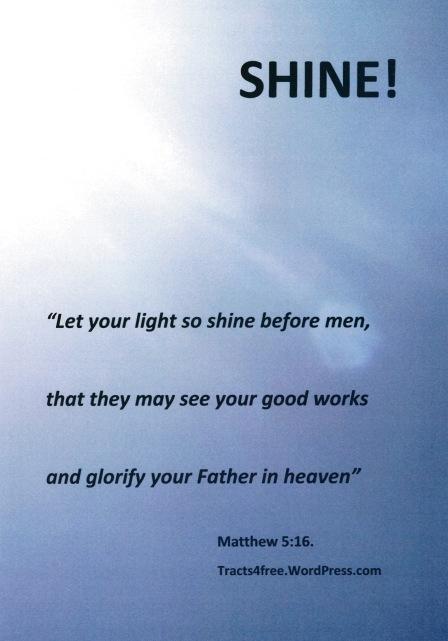 lLt your light shine poster.