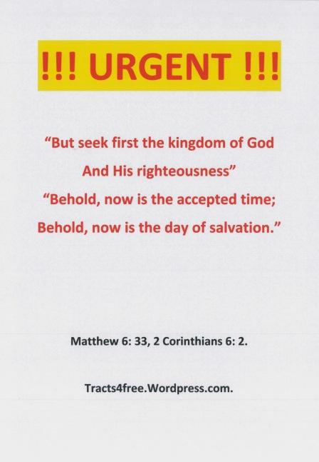 """Urgent"" Christian Poster."