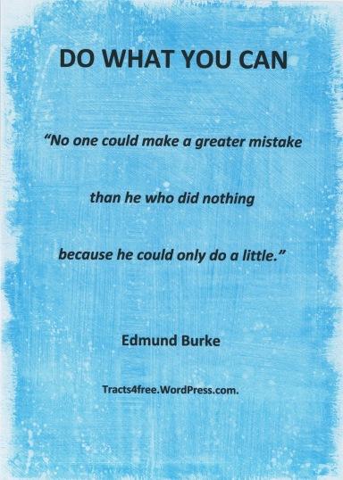 Edmund Burke quote.