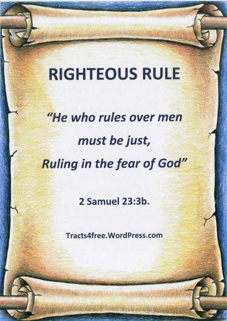 """Righteous Rule"""