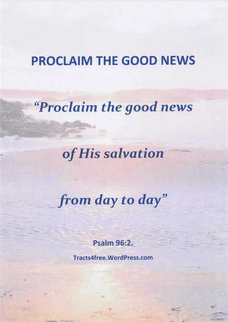 """Proclaim the good news"" poster"