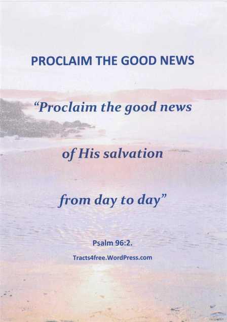 """Proclaim the good news"" poster"