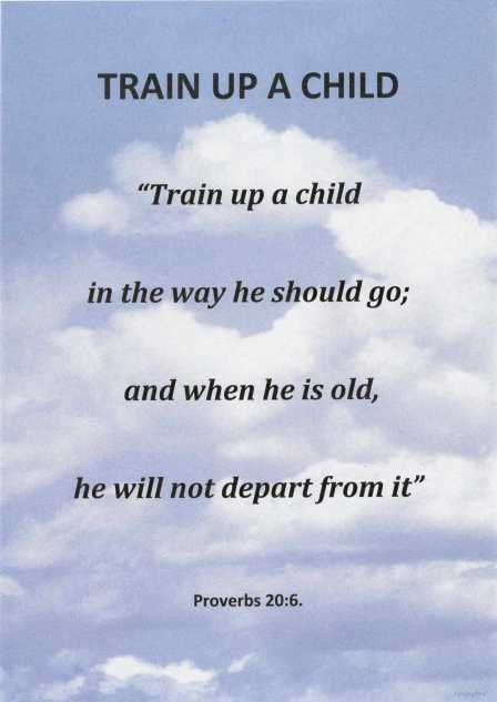 Train up a child poster