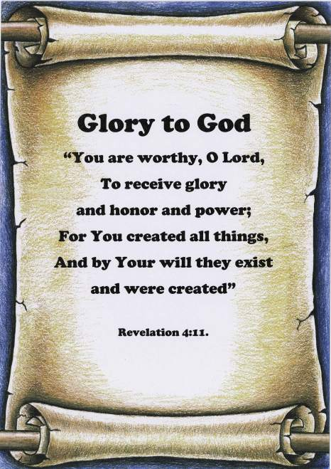 """Glory to God"""