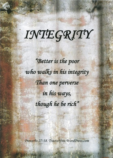 """""""Integrity"""" Poster."""