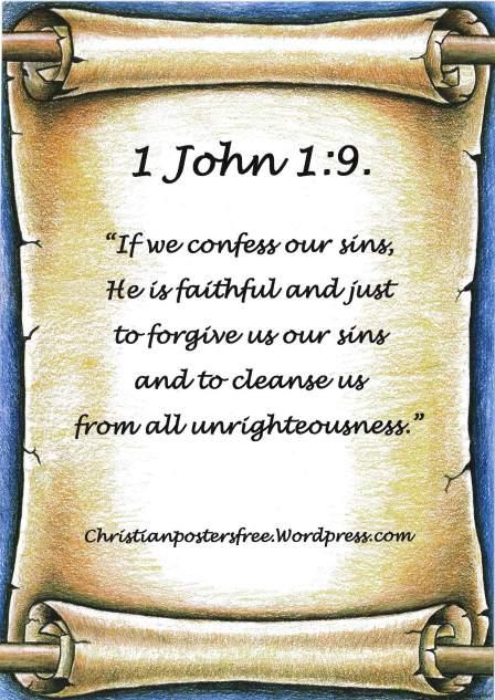 1 John 1:9 poster.