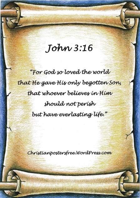 John 3:16 poster.