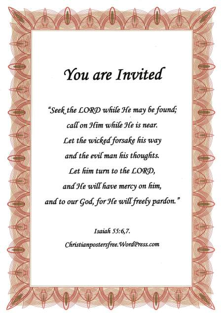 You are invited poster.