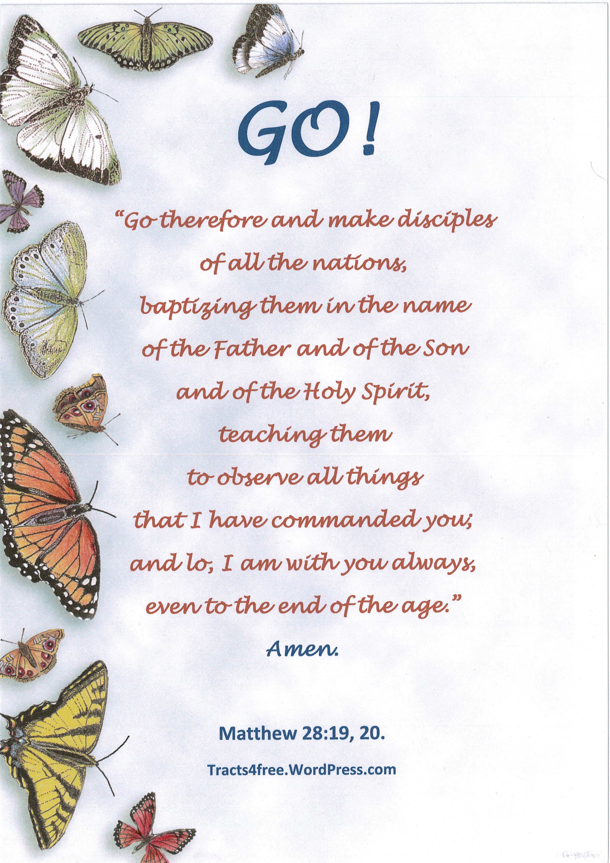 Christian poster.