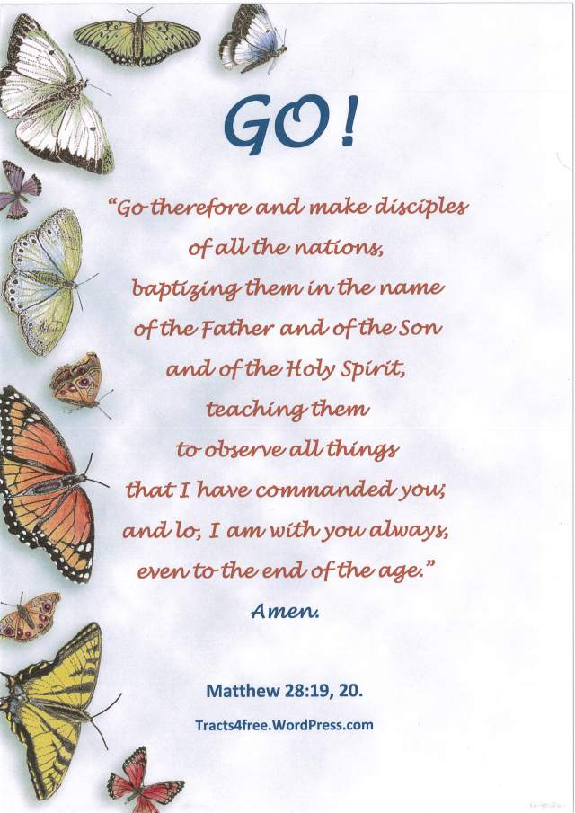 """""""Go!"""" Christian poster."""