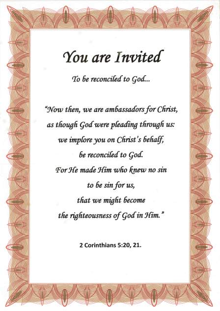 Christian invitation poster.