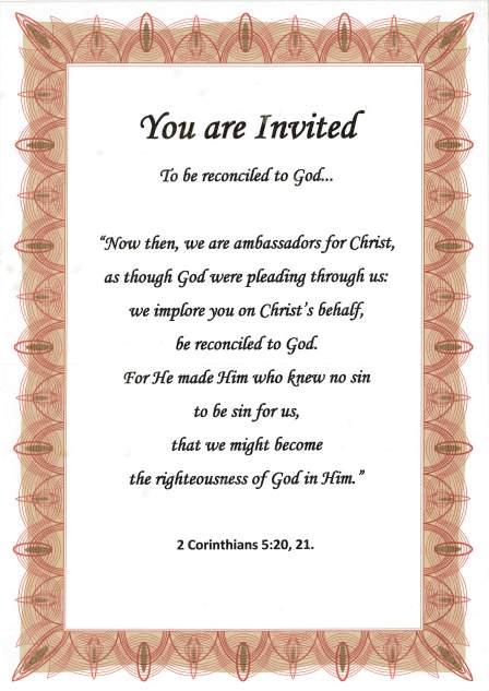 Christian invitation poster.