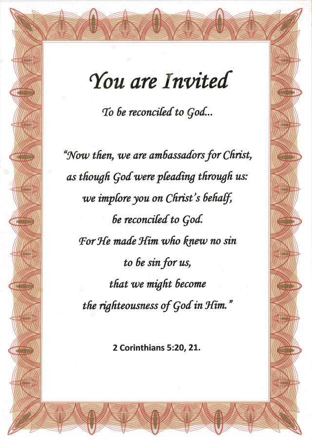 You are Invited Evangelism poster.