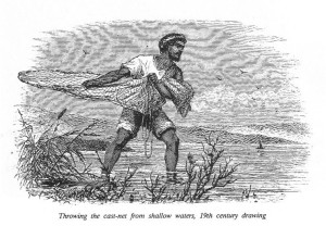 Fishing with a cast net. thewikibible.pbworks.com.