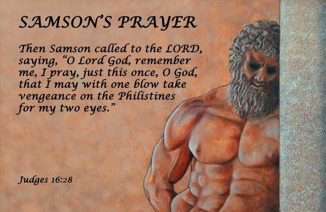 """Samson's Prayer"" Scripture poster by David Clode."