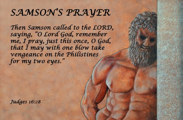 """Samson's Prayer"" Scripture poster by David Clode."