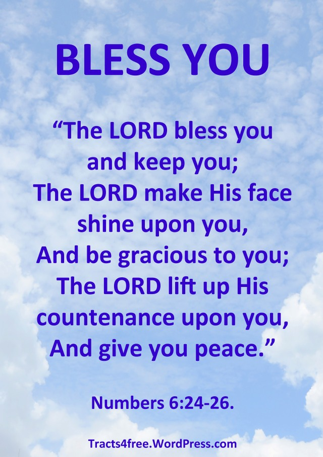 """""""Bless You"""" Bible verse poster."""