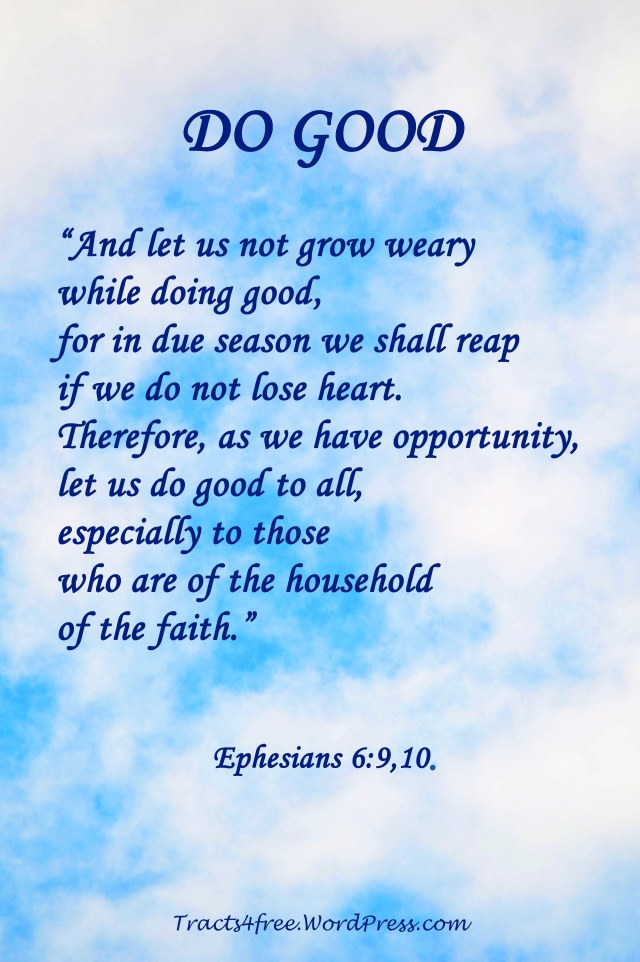 Do Good Scripture text poster.