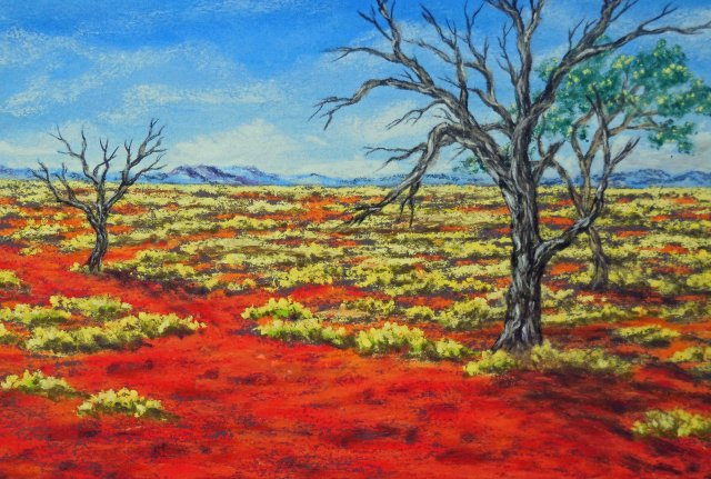 """The way through"" Western Australia. Australian Outback art by Sian Butler."