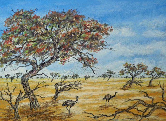 """Two's company"". Far North Queensland. Australian wildlife painting by Sian Butler."