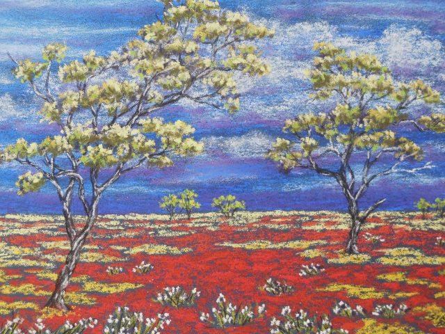"""""""Rejuvenating Rain"""". Western Australia. Outback art by Sian Butler."""