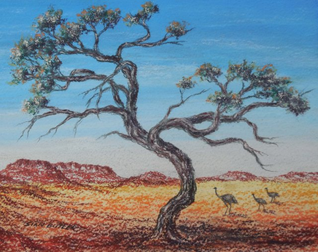 """Walking in the Outback"". Western Australia. Australian Outback Painting by Sian Butler."