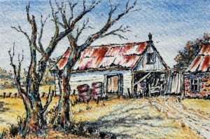 Australian Outback Homestead painting by Sian Butler.