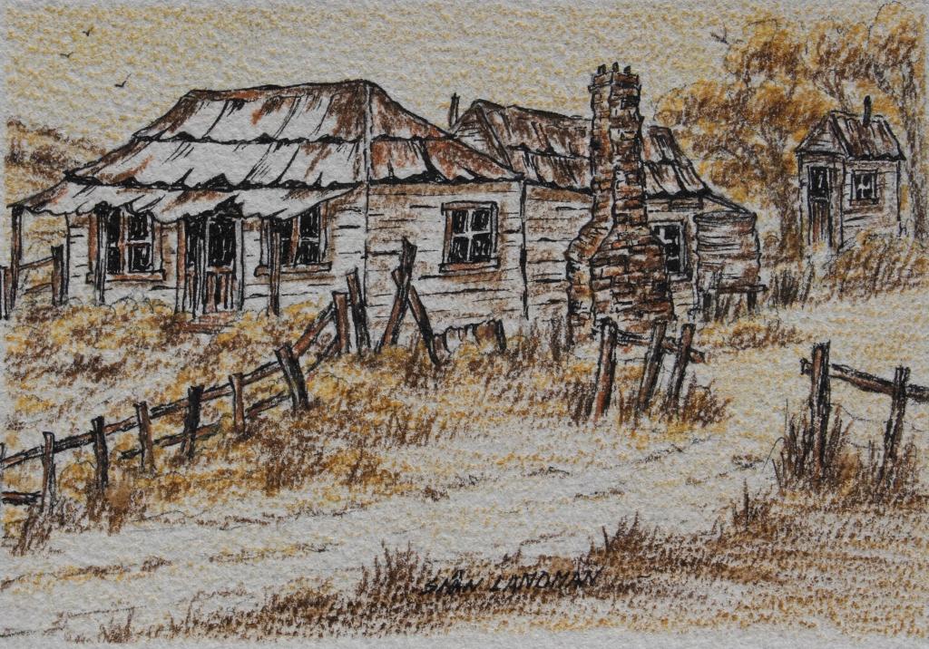 Another Version Australian Tumble Down Outback Farm House