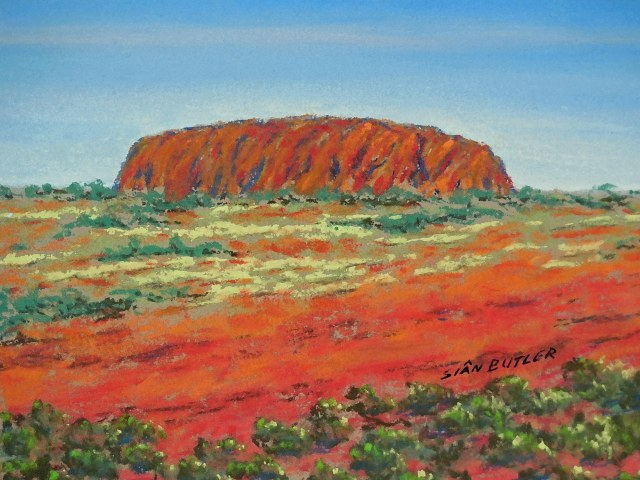 A subtly manipulated version of one of Sian's Uluru paintings.