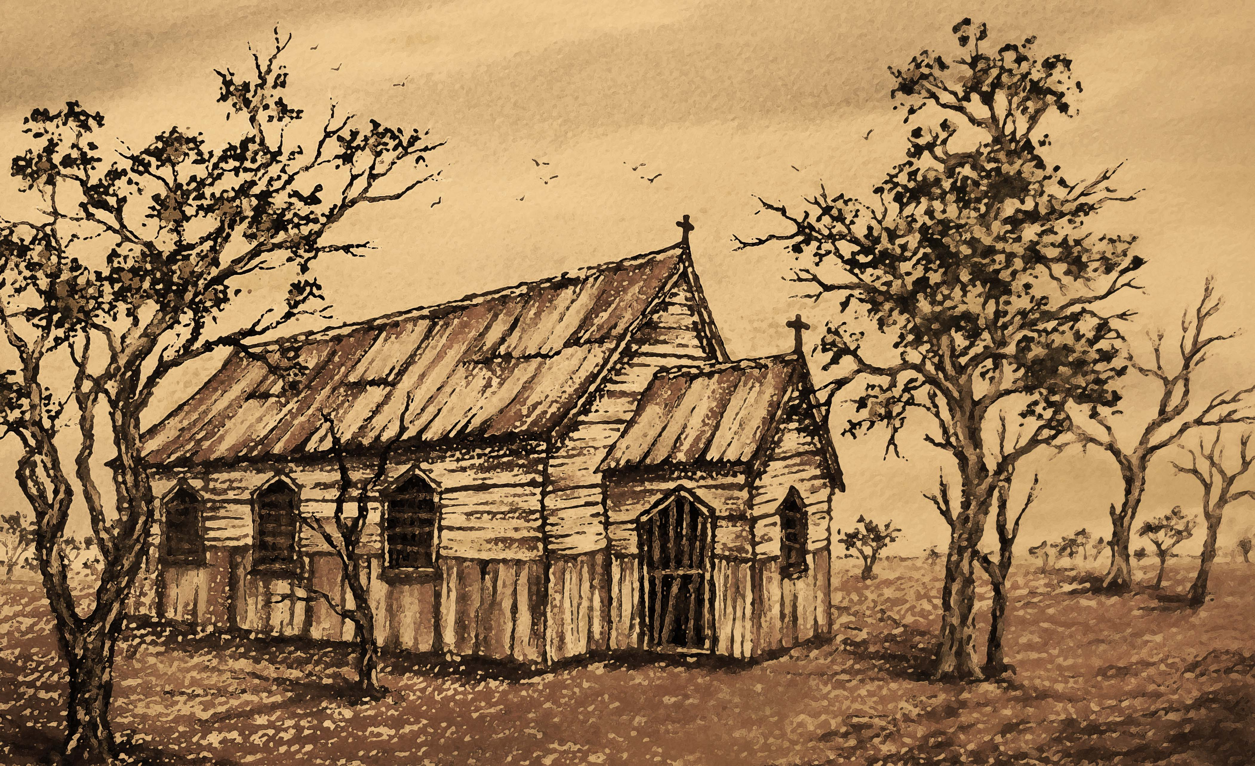 Australian Outback Church Paintings | Tracts4free
