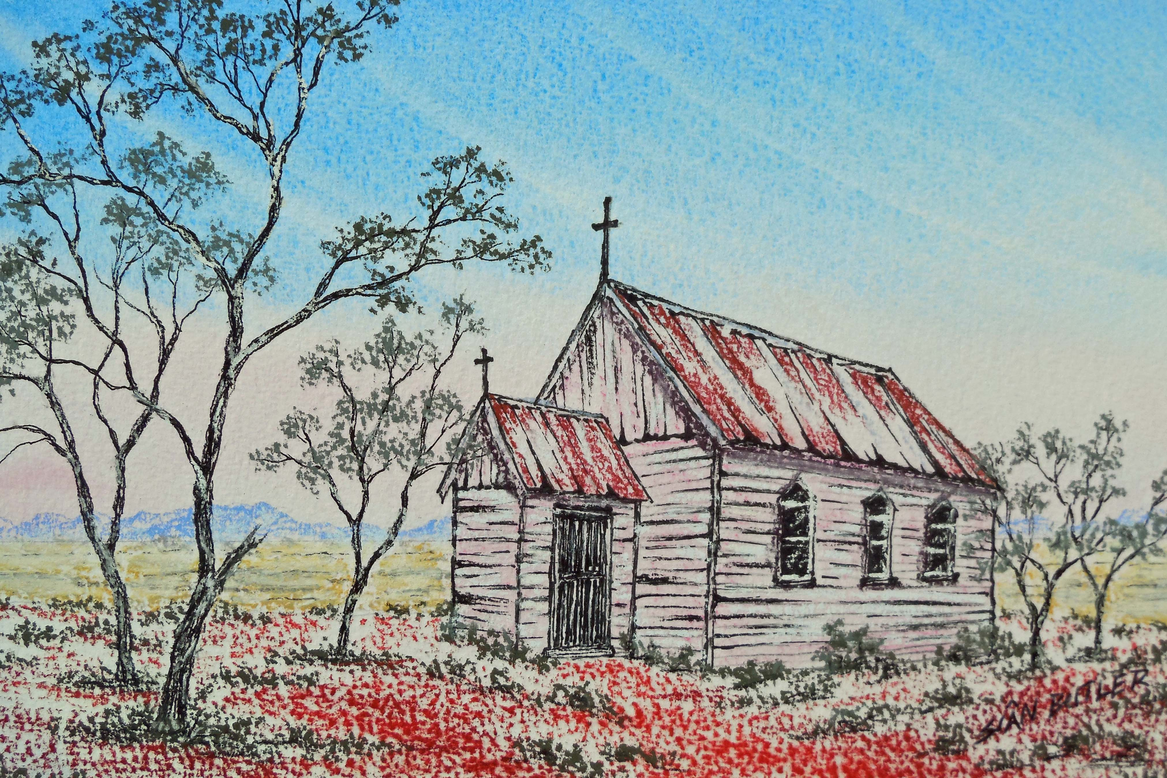 australian outback church paintings tracts4free BBQ Clip Art tropical foliage clipart