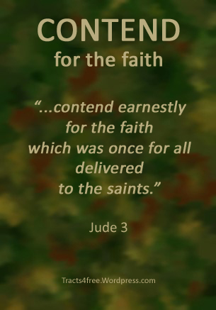 Contend for the faith. Jude 3 Christian poster.