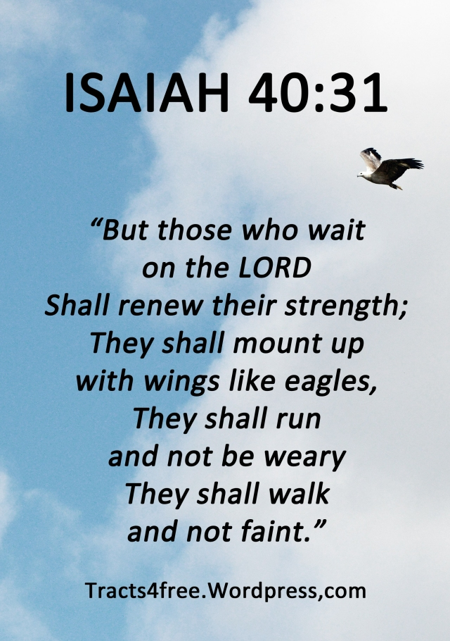 Isaiah 40:31. Bible verse poster.